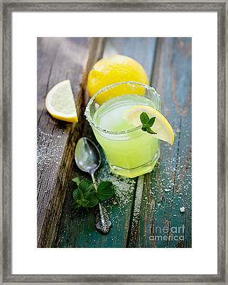 Fresh Lemonade Framed Print by Mythja  Photography