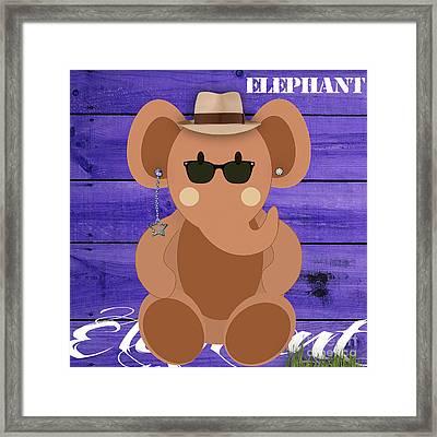 Friendly Elephant Art Framed Print