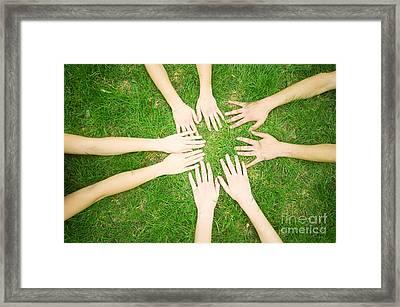 Friends United Framed Print by Michal Bednarek