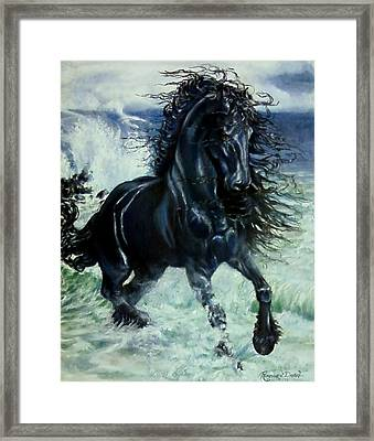 Friesian Storm Framed Print