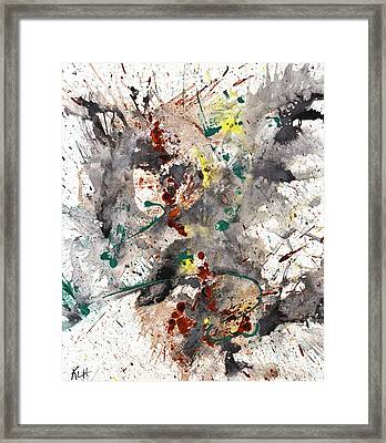 Framed Print featuring the painting From The Chaotic Mess Series - 1260.112212 by Kris Haas