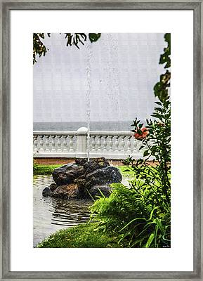 From The Garden - Bay Of Finland - Russia Framed Print by Madeline Ellis