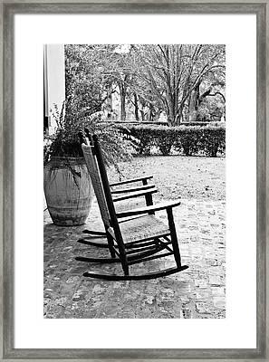 Front Porch Rockers Framed Print by Scott Pellegrin