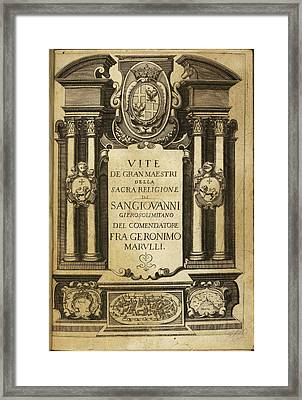 Frontispiece Framed Print by British Library