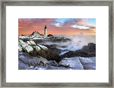 Frozen Dawn Framed Print