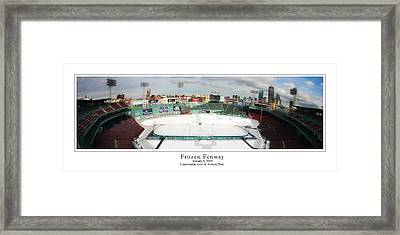 Frozen Fenway Framed Print by Kristopher Ventresco