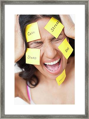 Frustrated Woman Framed Print