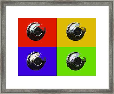 Fuel Cap In Bold Color Framed Print