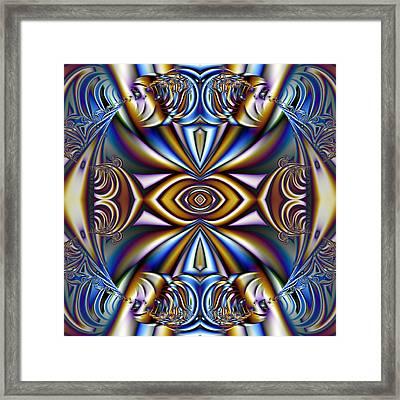 Funky Fractal Kaleidoscope Framed Print by Gina Lee Manley