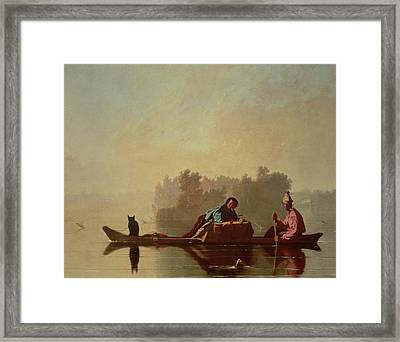 Fur Traders Descending The Missouri Framed Print