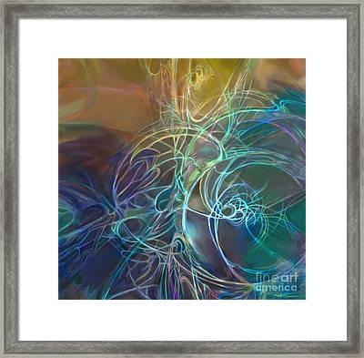 Galactic Textures Framed Print by Ursula Freer