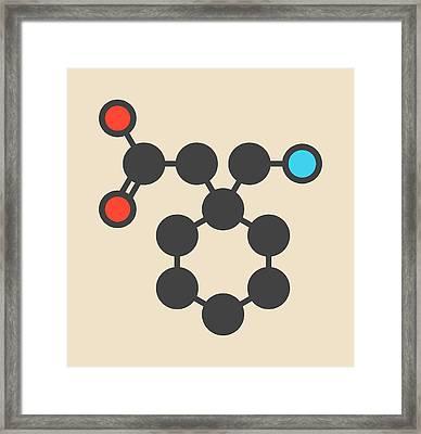 Gapapentin Drug Molecule Framed Print
