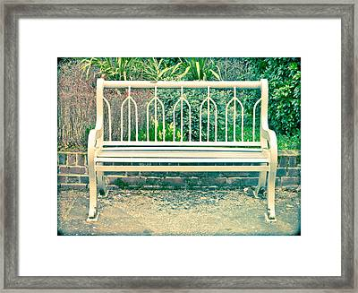 Garden Bench Framed Print