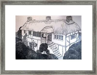 Garden Cottage Framed Print by Diane Fine