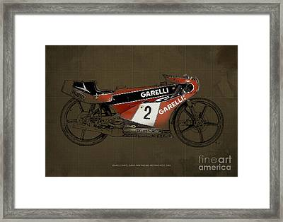Garelli 50cc Grand Prix Racing Motorcycle 1983 Framed Print by Pablo Franchi