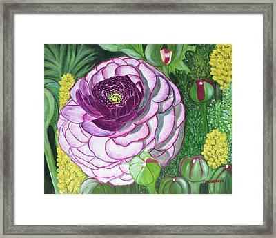 Garnet Punch Framed Print