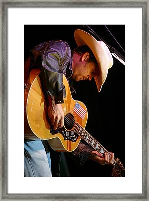 Gary Allan Framed Print by Don Olea