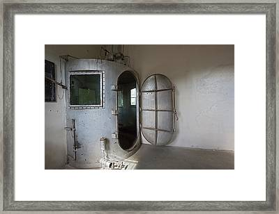 Gas Chamber At Wyoming Frontier Prison Framed Print by Jim West
