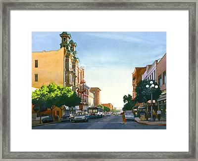 Gaslamp Quarter San Diego Framed Print