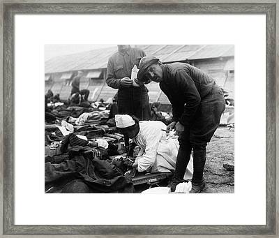 Gassed Soldiers Framed Print
