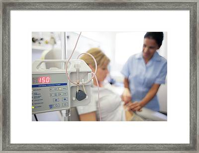 Gastric Feeding Tube Framed Print by Science Photo Library