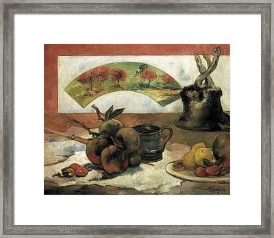 Gauguin, Paul 1848-1903. Still Life Framed Print by Everett