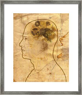 Gears In The Head Framed Print by Michal Boubin