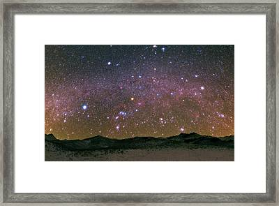 Geminid Meteor Shower Framed Print by Babak Tafreshi
