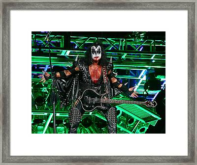 Framed Print featuring the photograph Gene Simmons - Kiss by Don Olea
