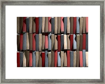 Generic Unbranded Leather Book Texture Framed Print