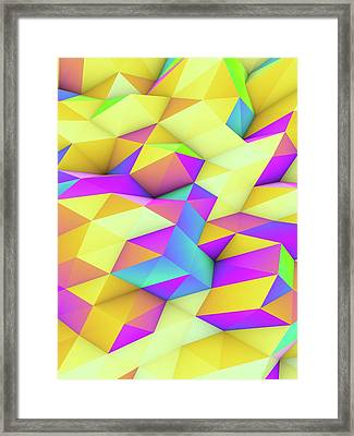 Geometric Abstract Polygonal Background Framed Print