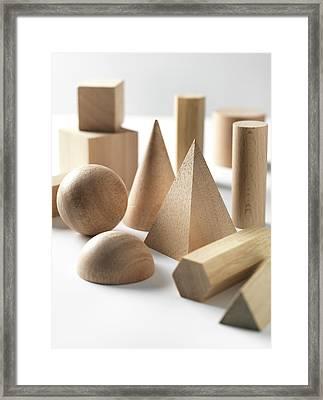 Geometric Shapes Framed Print by Tek Image