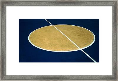 Geometry On The Basketball Court Framed Print
