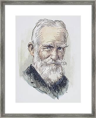 George Bernard Shaw (1856-1950) Framed Print by Granger