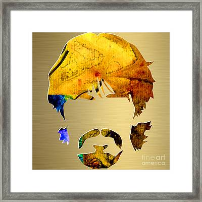 George Harrison Gold Series. Framed Print