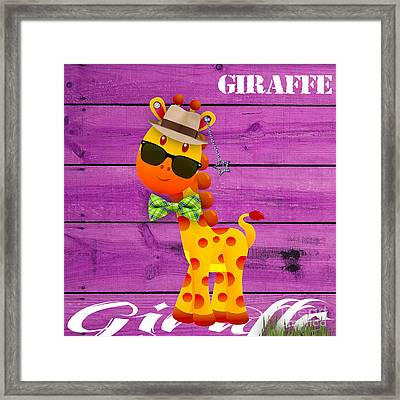 Georgie Giraffe Collection Framed Print