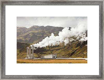 Geothermal Power Station Framed Print