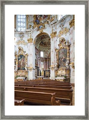 Germany, Bavaria, Ettal, Kloster Ettal Framed Print by Walter Bibikow