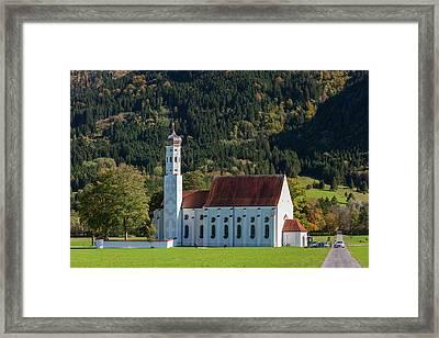 Germany, Bavaria, Hohenschwangau, St Framed Print by Walter Bibikow