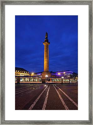 Germany, Hesse, Darmstadt, Marktplatz Framed Print