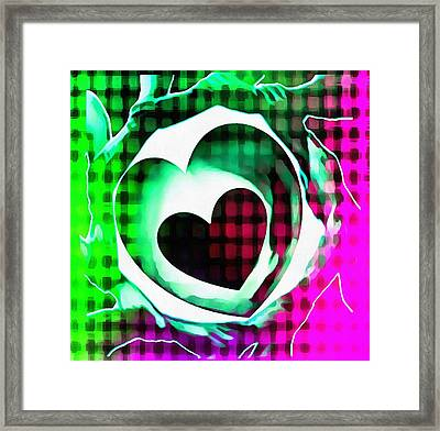 Get Connected At Heart Framed Print