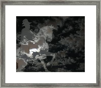 Ghost Rider Framed Print by Ellen Henneke