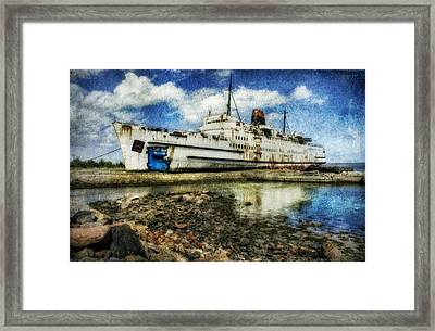 Ghost Ship Framed Print by Ian Mitchell