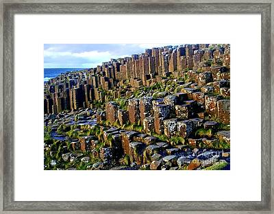 Giant's Causeway Framed Print by Nina Ficur Feenan