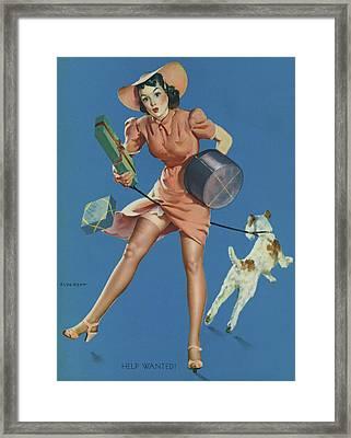 Gil Elvgren's Pin-up Girl Framed Print by Underwood Archives