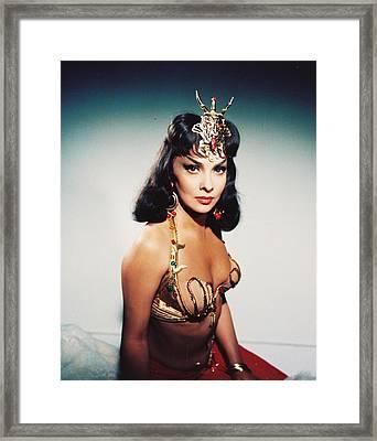 Gina Lollobrigida In Solomon And Sheba  Framed Print