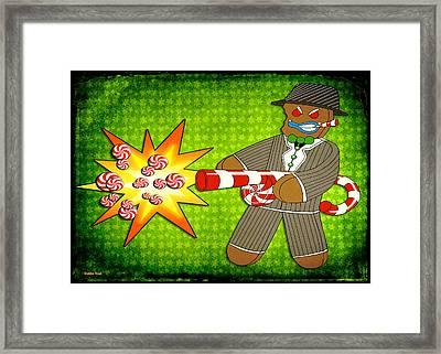 Gingerbread Gangster Framed Print by Shawna Rowe