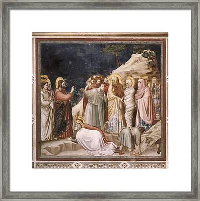 Giotto Di Bondone 1267-1337. Scenes Framed Print by Everett