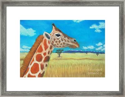 Giraffe Dreaming Framed Print