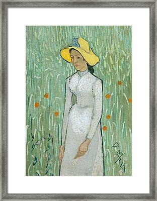 Girl In White Framed Print by Vincent van Gogh